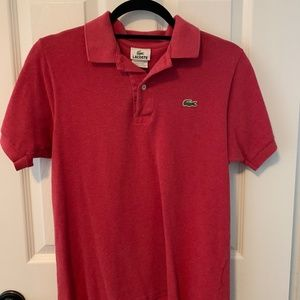 Lacoste Men's red polo shirt size small